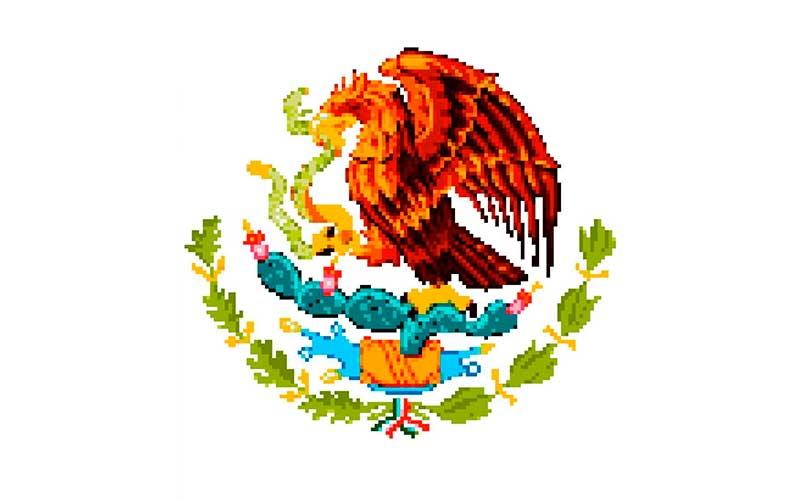 Un usuario de reddit crea el escudo nacional mexicano en Pixel Art